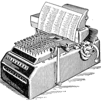 An old mechanical typewriter