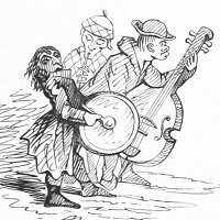 A band with three musicians