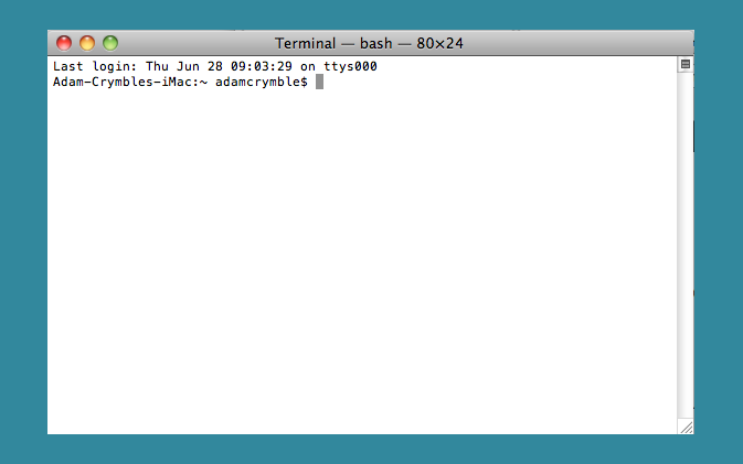 The Mac Command Line, Terminal
