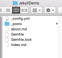 In Finder, we can see that bunch of new files—the files that will run your website!—have been installed