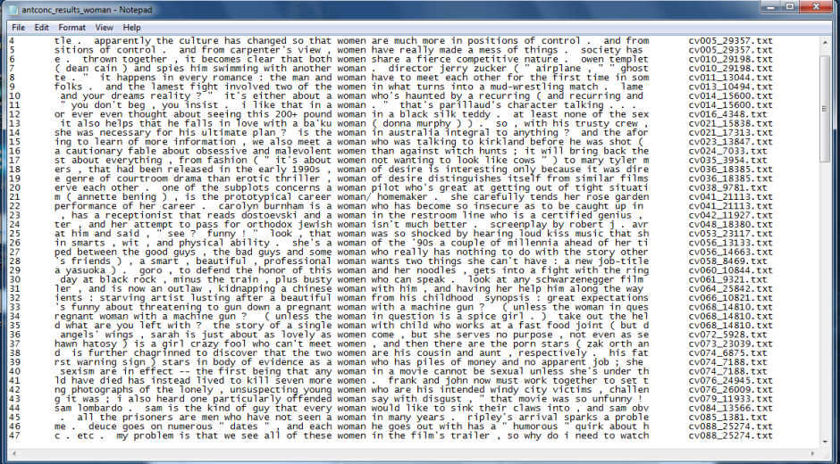 The plain text file displayed in a text editor.