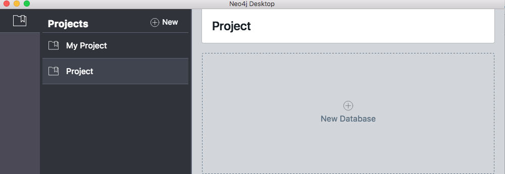 Neo4j Desktop - Adding a new database to a project.