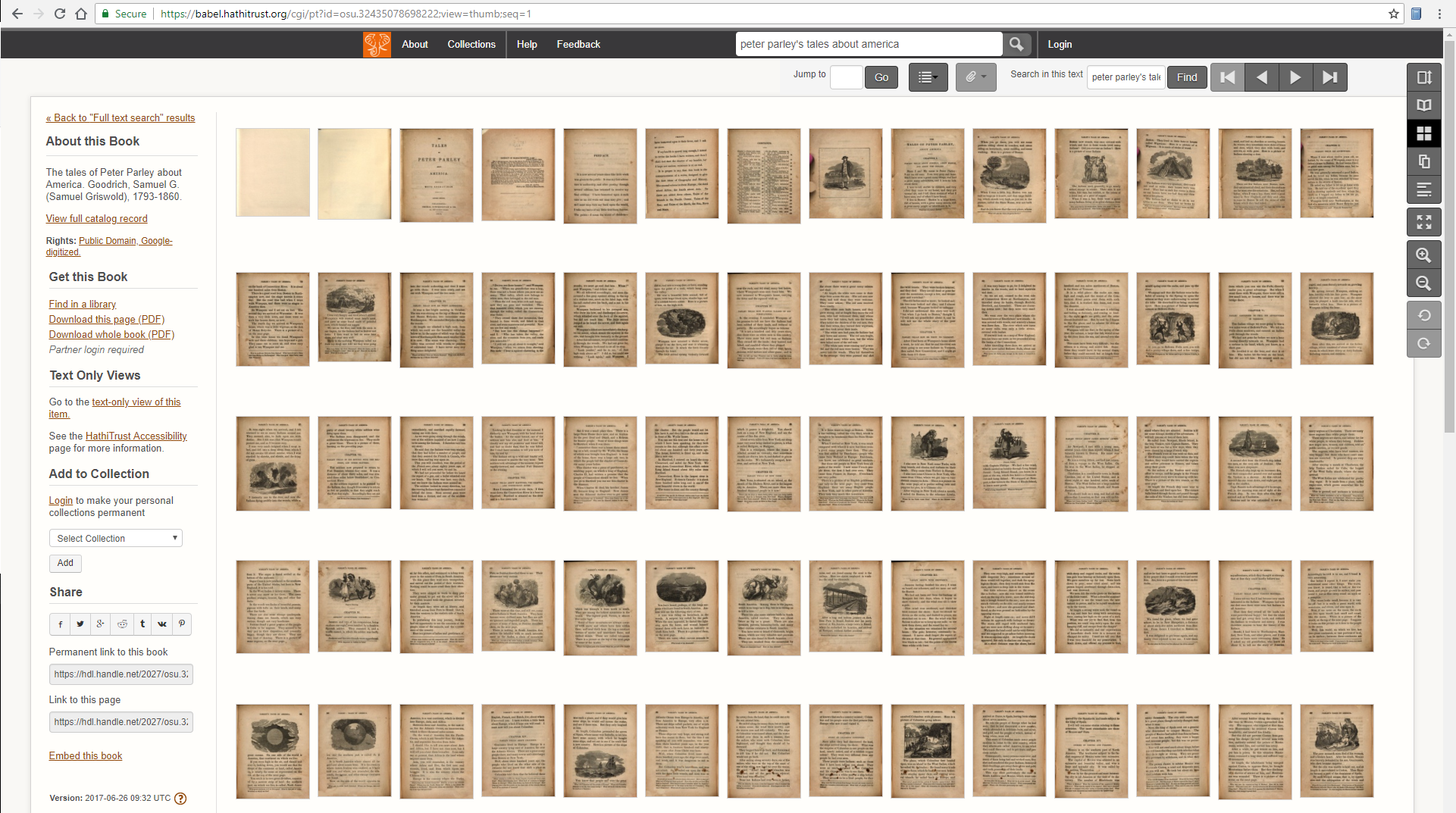 View of HathiTrust thumbnails for all pages.
