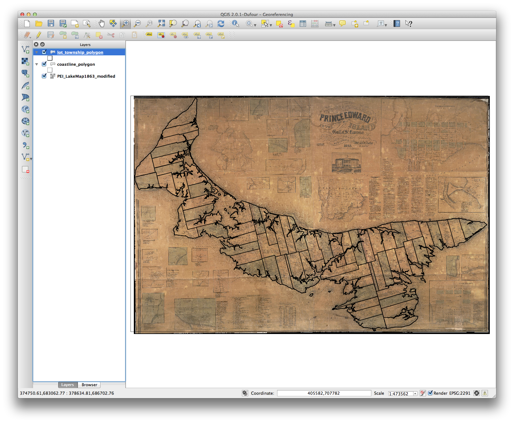 Georeferencing in QGIS 2 0 | Programming Historian