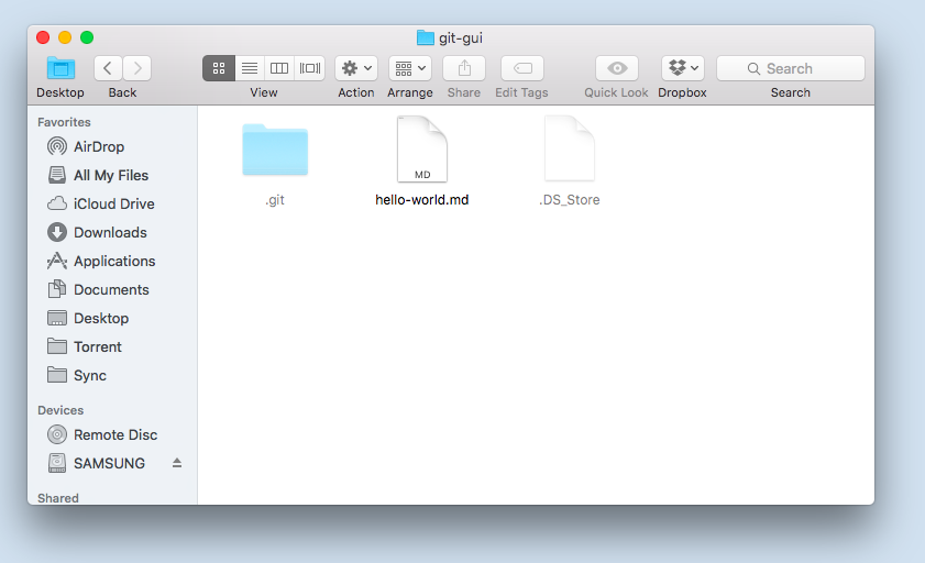 The folder being watched by GitHub desktop