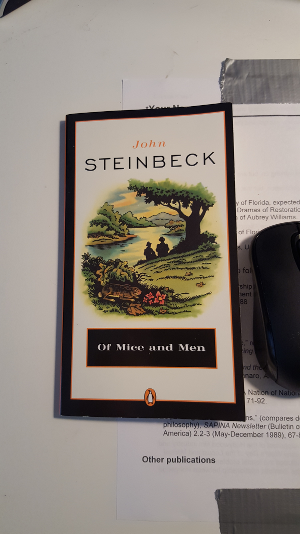 This cover of John Steinbeck's *Of Mice and Men* will work well as an Image Target.