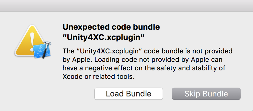 Possible Xcode error.