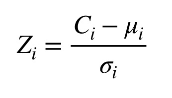 Figure 7: Equation for the z-score statistic.