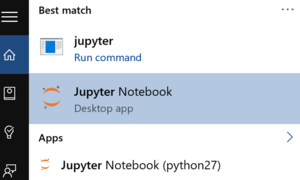 Opening Jupyter on Windows