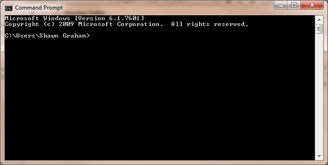 Figure 4: Command Prompt on Windows
